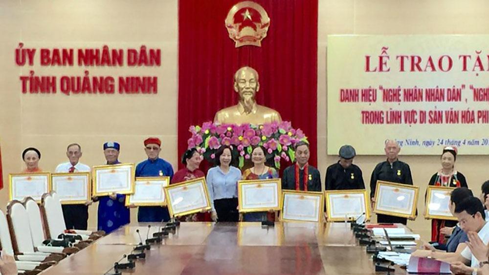 12 nghệ nhân được trao danh hiệu Nghệ nhân dân gian, Nghệ nhân ưu tú